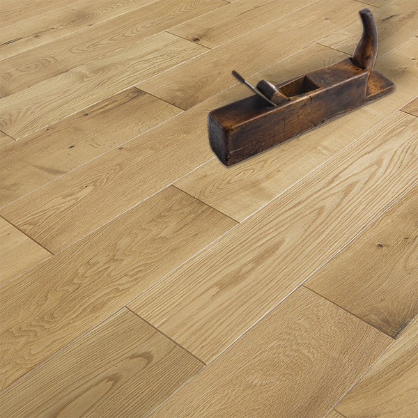 Abbey saddell oak rustic 150mm lacquered solid wood floor for Wood floor factory