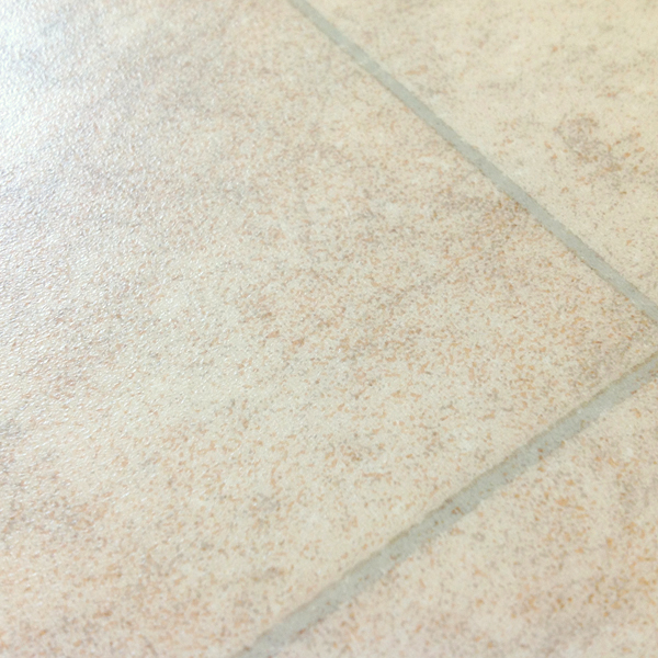 Rhinofloor options tiles amalfi warm beige 5762084 for Cushioned vinyl flooring