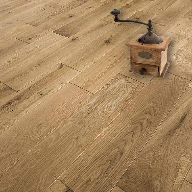 Abbey armagh 125mm rustic oak lacquer solid wood flooring for Real wood flooring