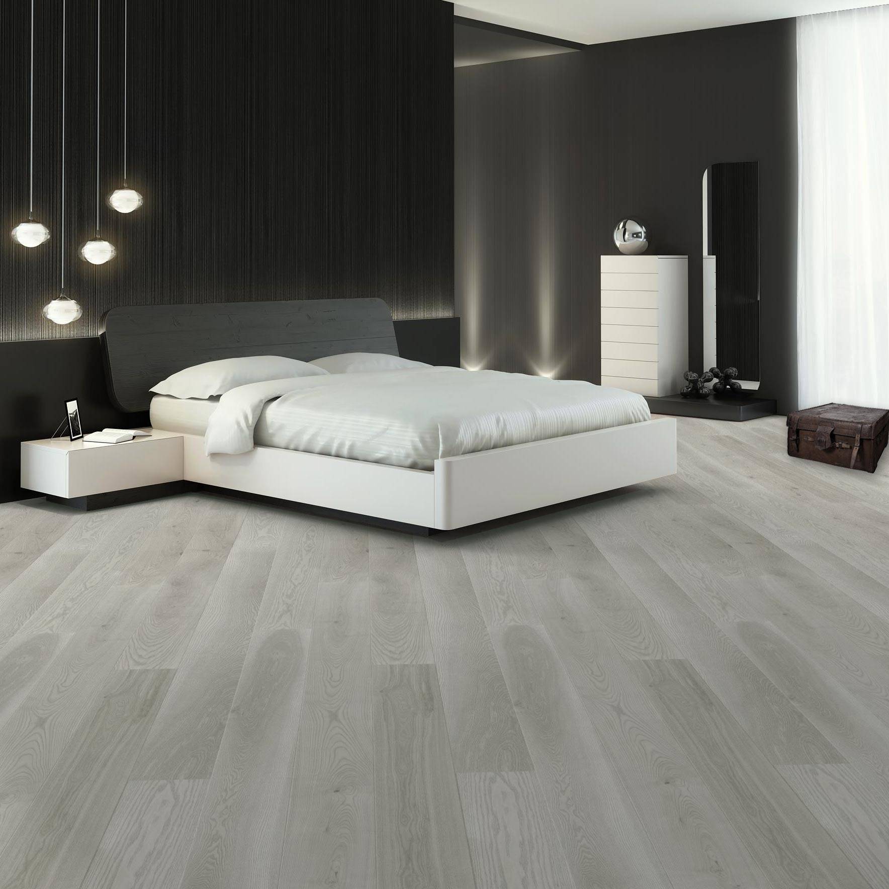 Sale Abbey Ruthin 14mm Grey Oak Matt Lacquered Click Engineered Floor
