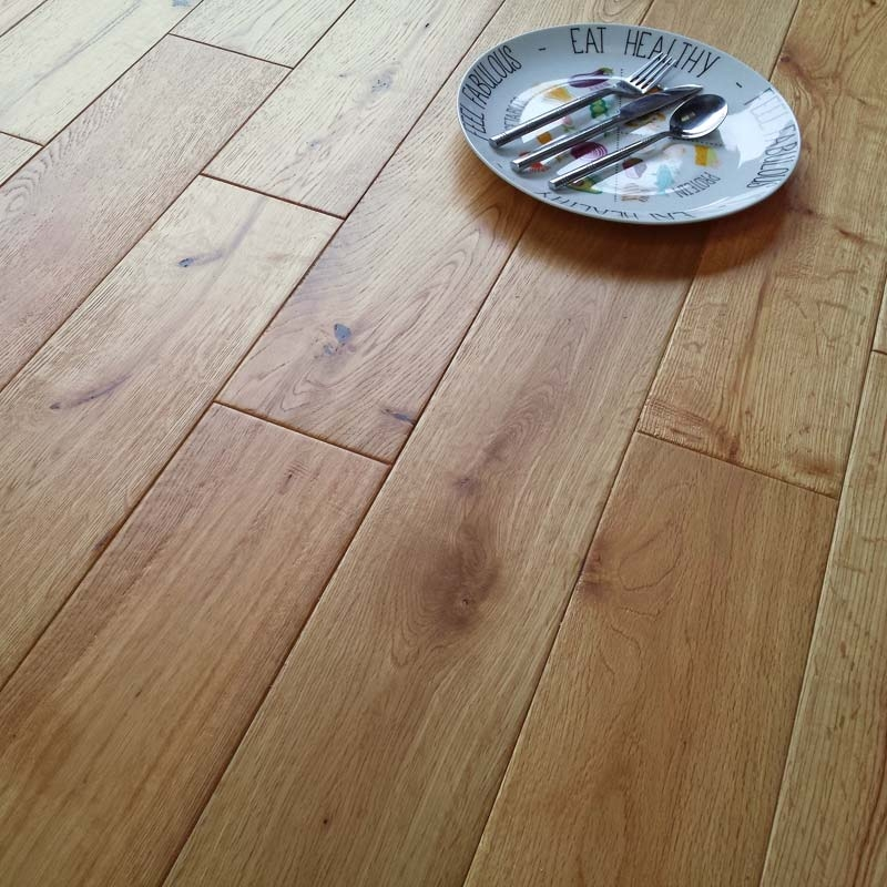 Abbey varna engineered oak hand scraped 18mm brushed oiled for Abbey floor