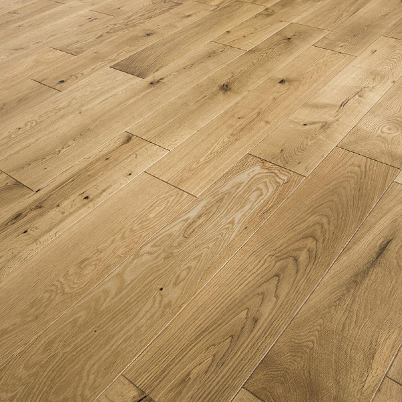 Abbey armagh 125mm rustic oak lacquer solid wood flooring for Solid oak wood flooring