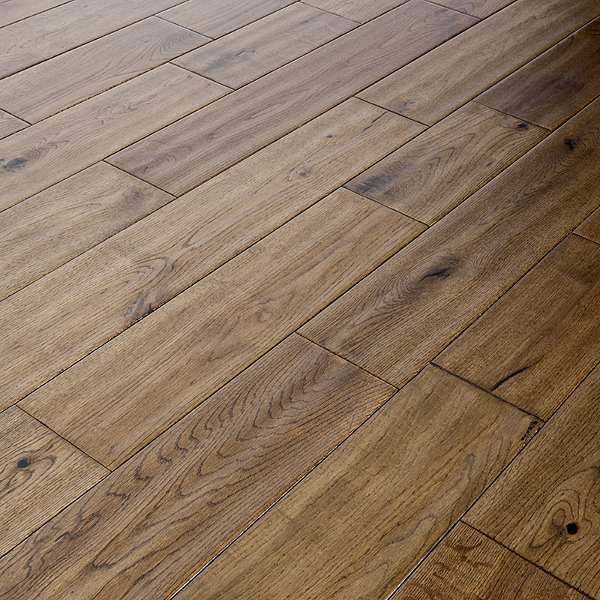Abbey kells 125mm golden hand scraped oak solid wood for Solid oak wood flooring