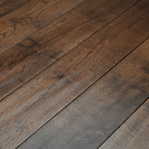 Abbey whitland 125mm hand scraped coffee oak solid wood for Real solid wood flooring