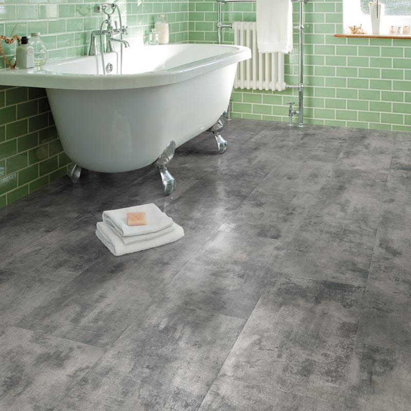Carbon Oak Power Click Flooring Luxury Vinyl Tile System ... |Vinyl Click Flooring