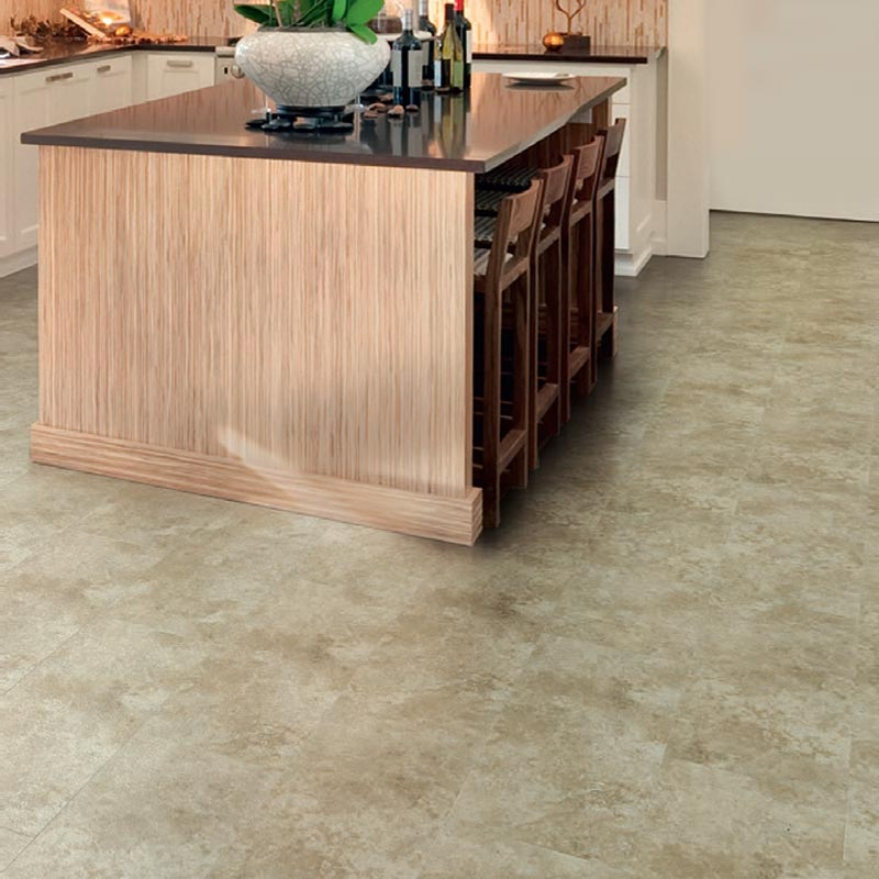Aqua Tile Professional Limestone Natural Vinyl Flooring