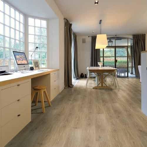 Aquastep waterproof laminate flooring vendome oak v groove - Waterproof flooring for bathrooms ...