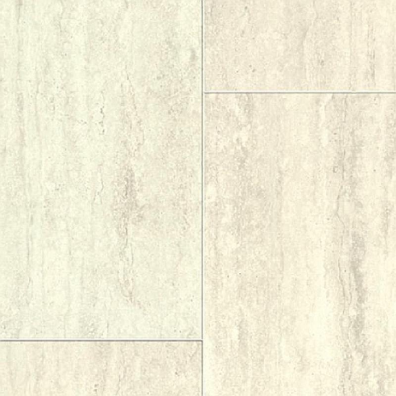 Aquastep waterproof laminate tile 4v travertin white for Laminate tile flooring