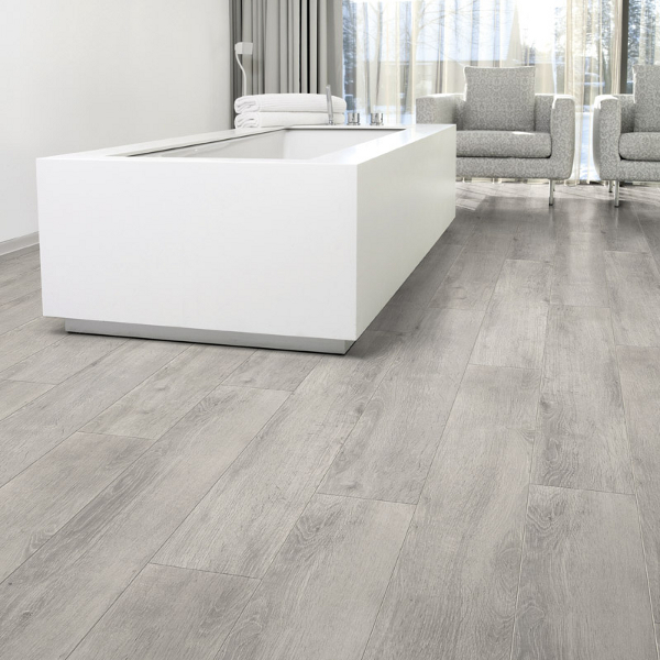 What Color Wood Floor With Gray Walls: Aquastep Waterproof Laminate Flooring Oak Grey V-Groove
