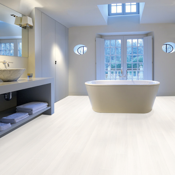 Aquastep Waterproof Laminate Flooring Ultra White V Groove