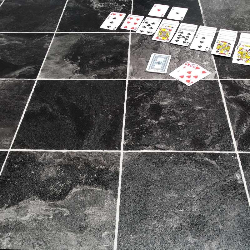 Vinyl Carpet Flooring India: Cosystep Indian Slate 599 Cushion Vinyl Flooring