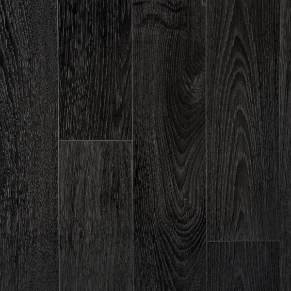 Cosystep Glossy Black Oak Plank 8559 Cushioned Vinyl