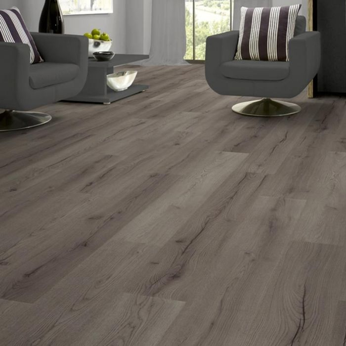 Prestige Century Oak Grey 7mm V Groove Click Laminate Flooring Lifestyle 1