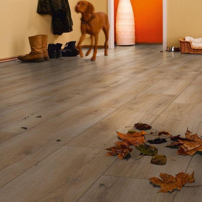 Prestige Natur Oak 7mm V Groove Click Laminate Flooring Lifestyle 1