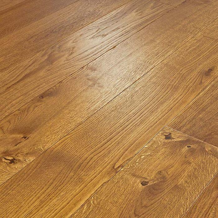 Abbey Denny 14mm Golden Oak Brushed, 14mm Thick Laminate Flooring