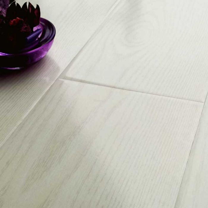 Prestige Gloss White Oak 8mm V Groove Laminate Flooring
