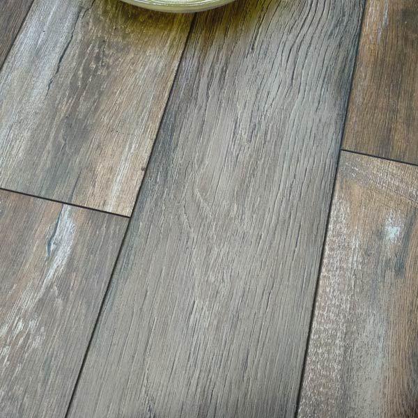 Prestige Plus 12mm Mocha Rustic Oak Ac5, Rustic Gray Laminate Flooring