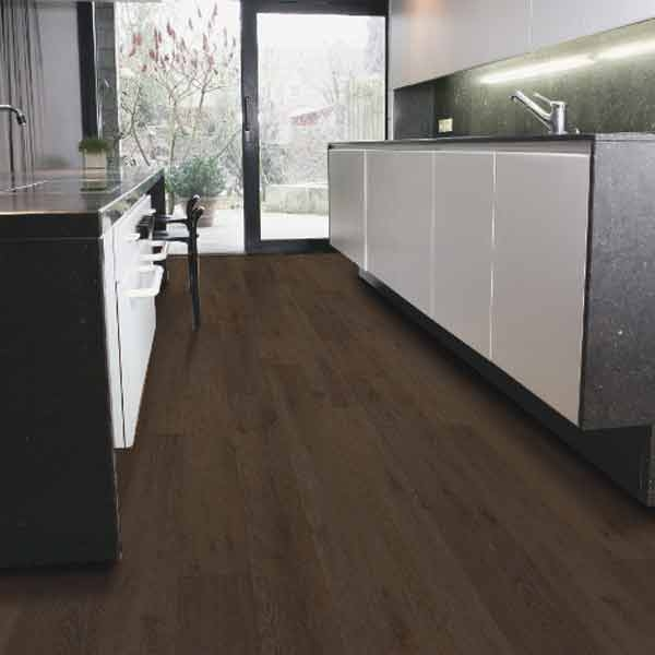 Ecostep dark oak plank 846 cushioned factory direct flooring for Dark wood vinyl flooring