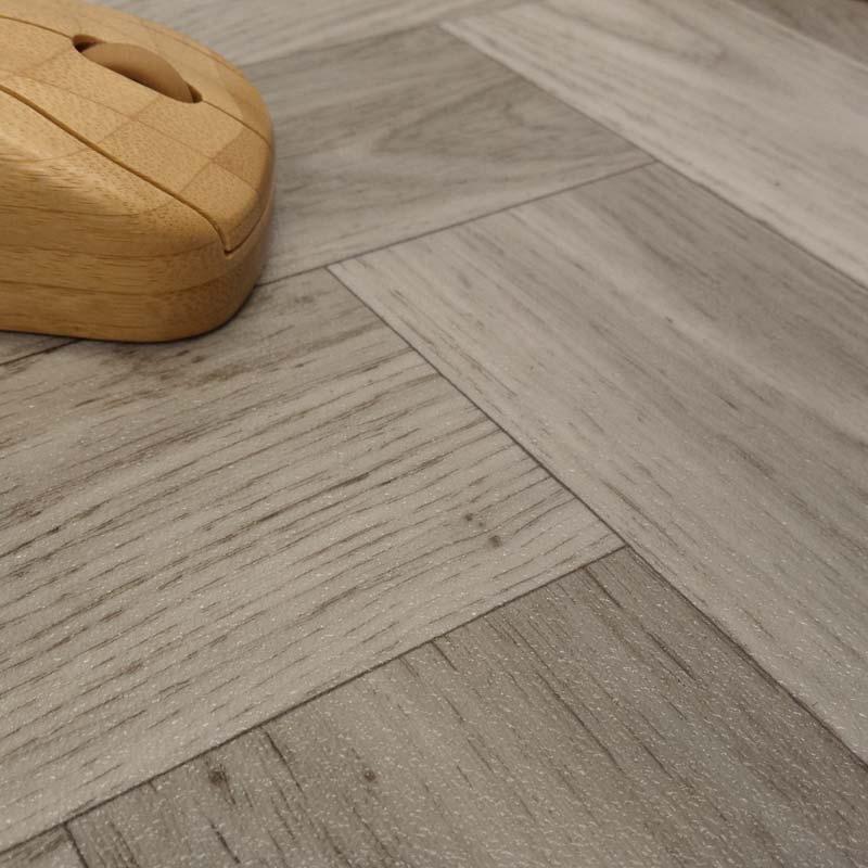 Ecostep herringbone grey 906 cushioned vinyl flooring for Cushioned vinyl floor tiles