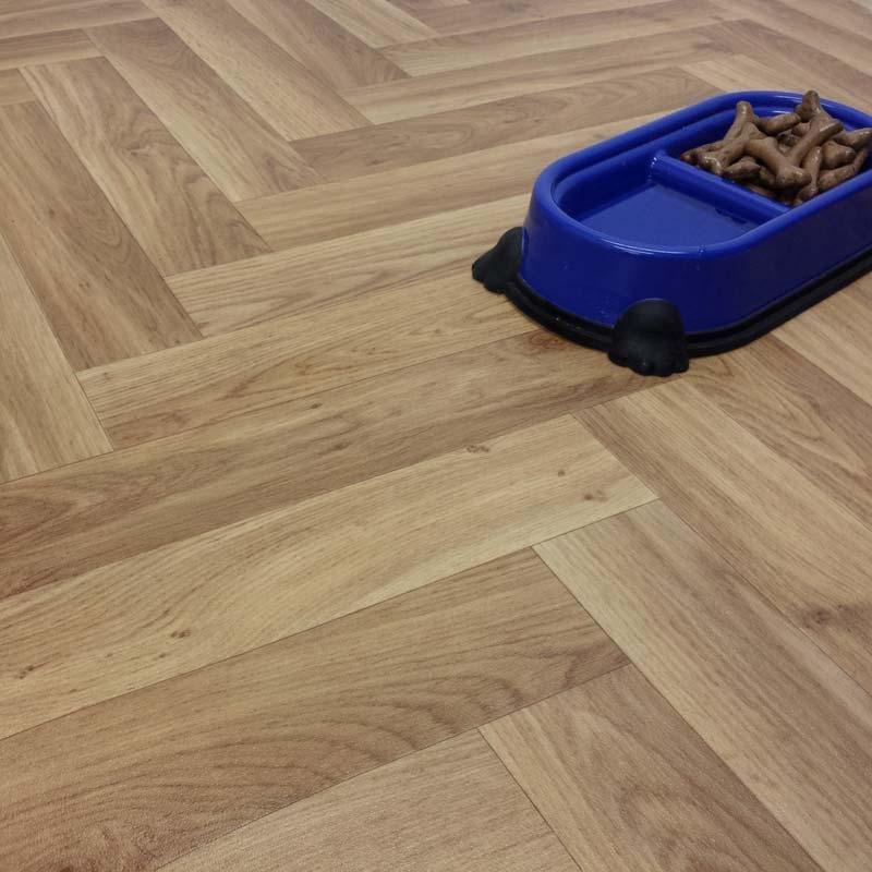 Ecostep herringbone natural 116 cushioned vinyl flooring for Cushioned linoleum flooring
