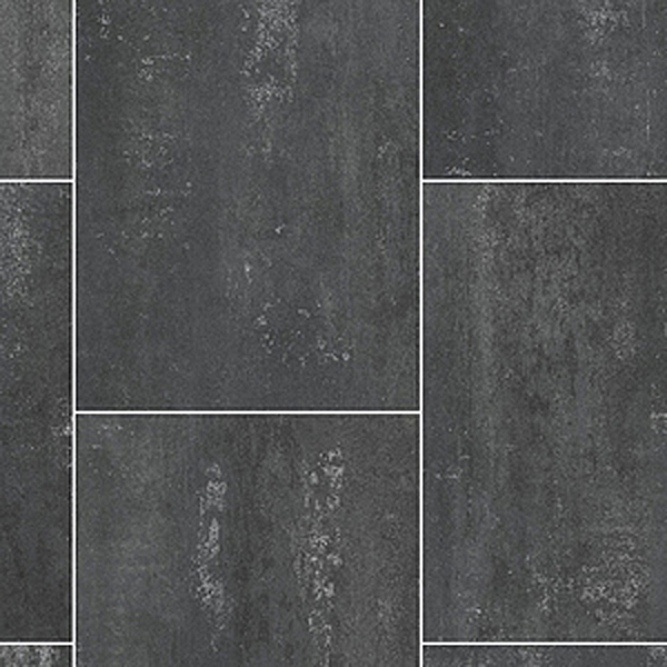 Ecostep Black Slate Tile 589 Cushioned Vinyl Flooring