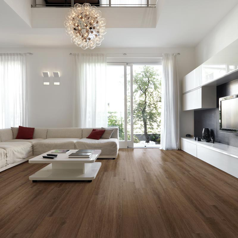 Dark Brown Laminate Flooring Living Room
