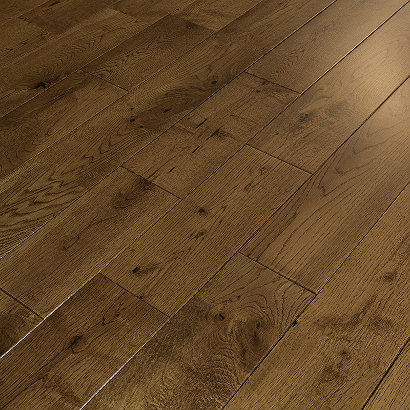 Forest Drop Loc Golden Oak Brushed Lacquered Solid Wood
