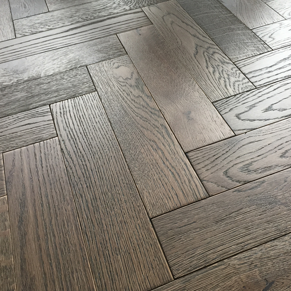 Herringbone Parquet 18mm Barn Oak Brushed Matt Lacquer