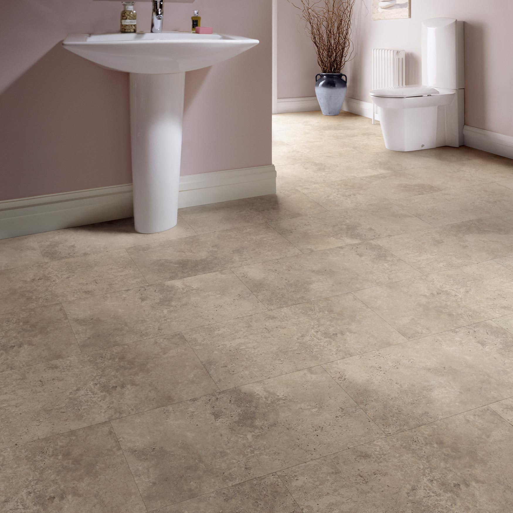 Karndean palio volterra ct4301 clic vinyl tile factory for Vinyl floor tiles in bathroom