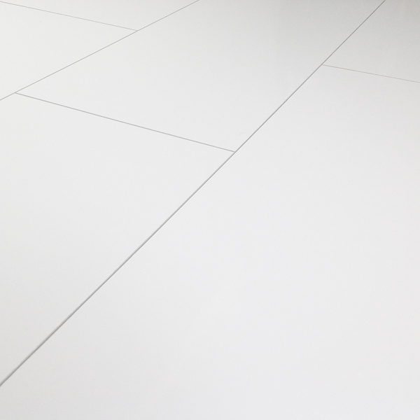 Kronotex gloss white laminate tiles factory direct flooring for White laminate flooring