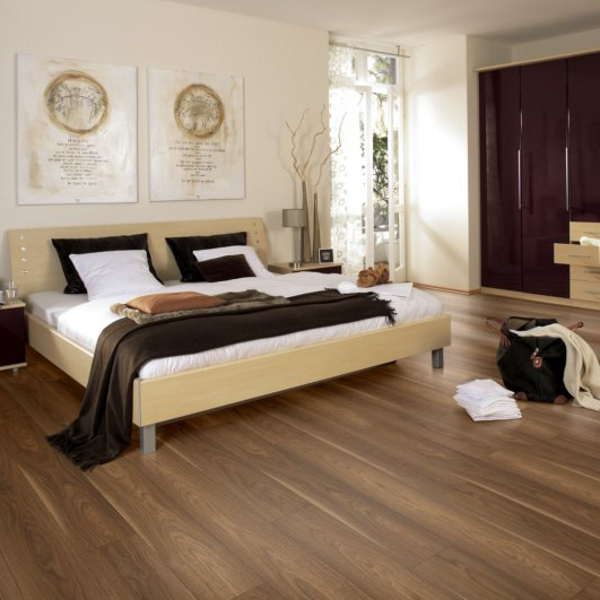Prestige 7mm V Groove Mansonia Walnut Click Laminate Flooring Factory Direct Flooring
