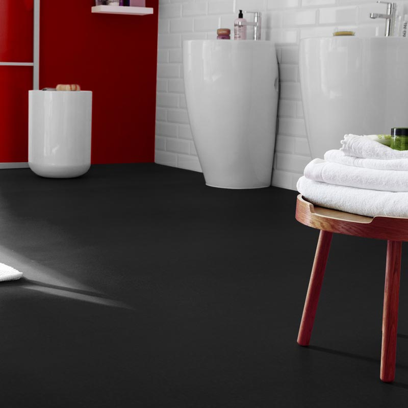 Captivating Plain Colours 599 Black Vinyl Flooring ...