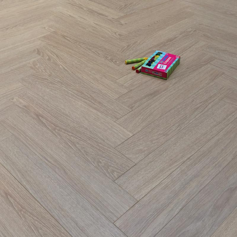 Prestige Herringbone Chic Oak 8mm Laminate Floor