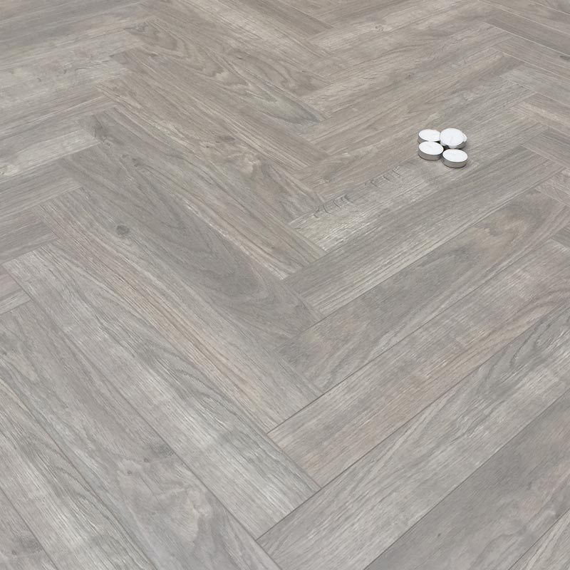 Prestige Herringbone Grey Oak 8mm Laminate Floor Factory Direct