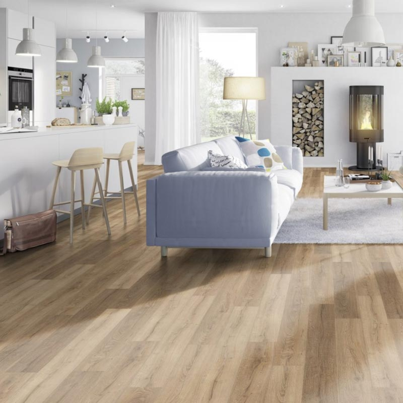 Prestige Rustic Oak Light 8mm V-Groove Laminate Flooring