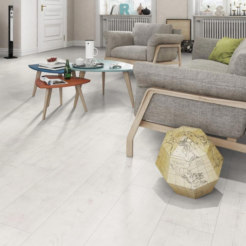 a40e9d8bffd Prestige Still White Oak 8mm V-Groove Laminate Flooring 098