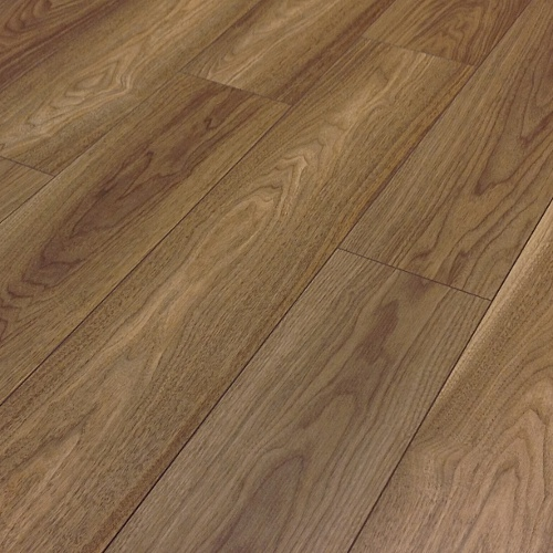Prestige 7mm v groove mansonia walnut click laminate for Walnut laminate flooring