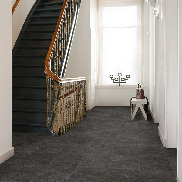 Black Slate Flooring: Quickstep Exquisa Slate Black EXQ1550