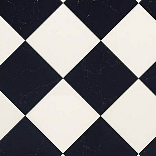 Rhinofloor Elite Tiles Pisa Black White Vinyl Flooring - Black and white square vinyl flooring