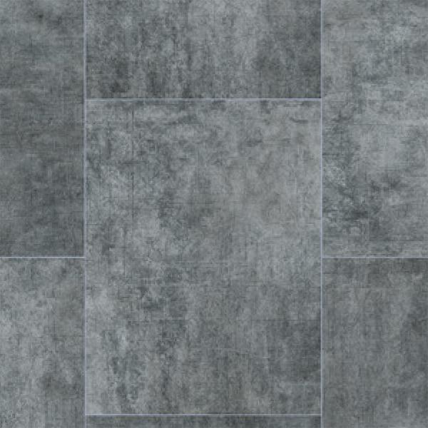 Rhinofloor Elite Tiles Texceram Dark Grey 5765059 Vinyl