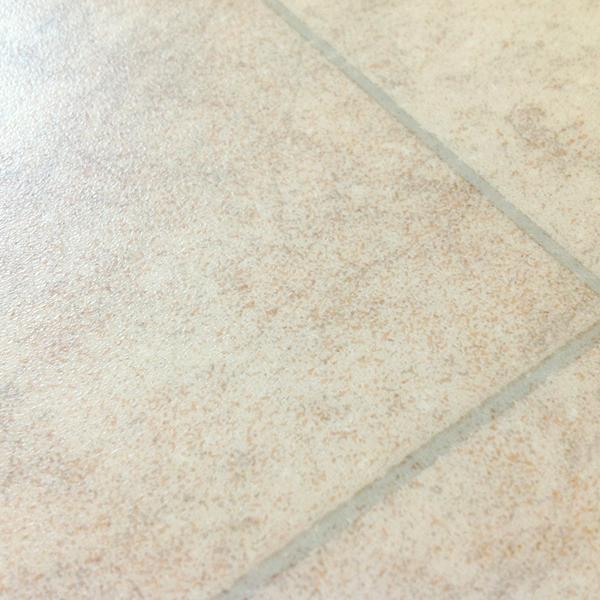 Rhinofloor options tiles amalfi warm beige 5762084 for Cushioned linoleum flooring