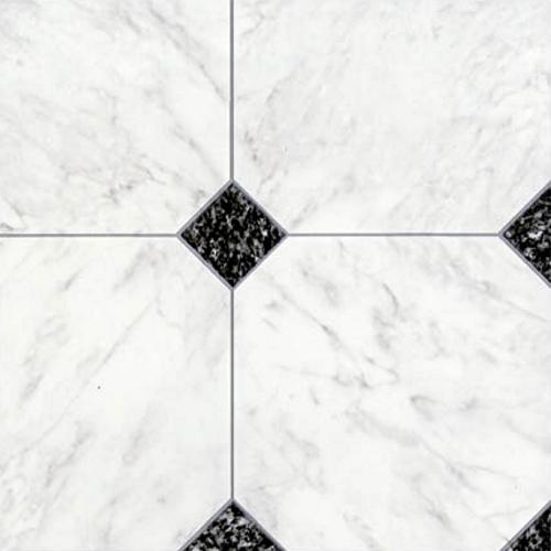 Rhinofloor options tiles chepstow black white 5762009 for Cushioned vinyl floor tiles