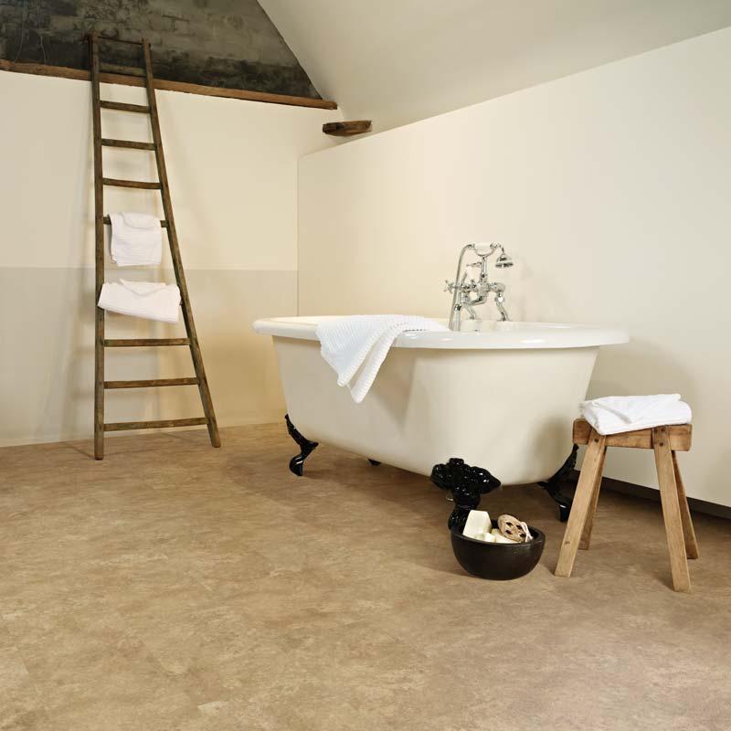 Plastic Click Flooring: Aqua Tile Professional Granite Perlato Stone Click Vinyl