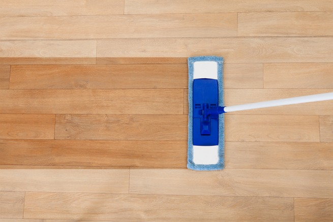 Image of someone mopping floor