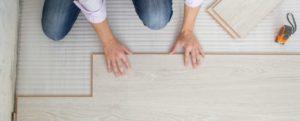 image of someone fitting flooring