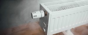 Image of heater with steam coming out