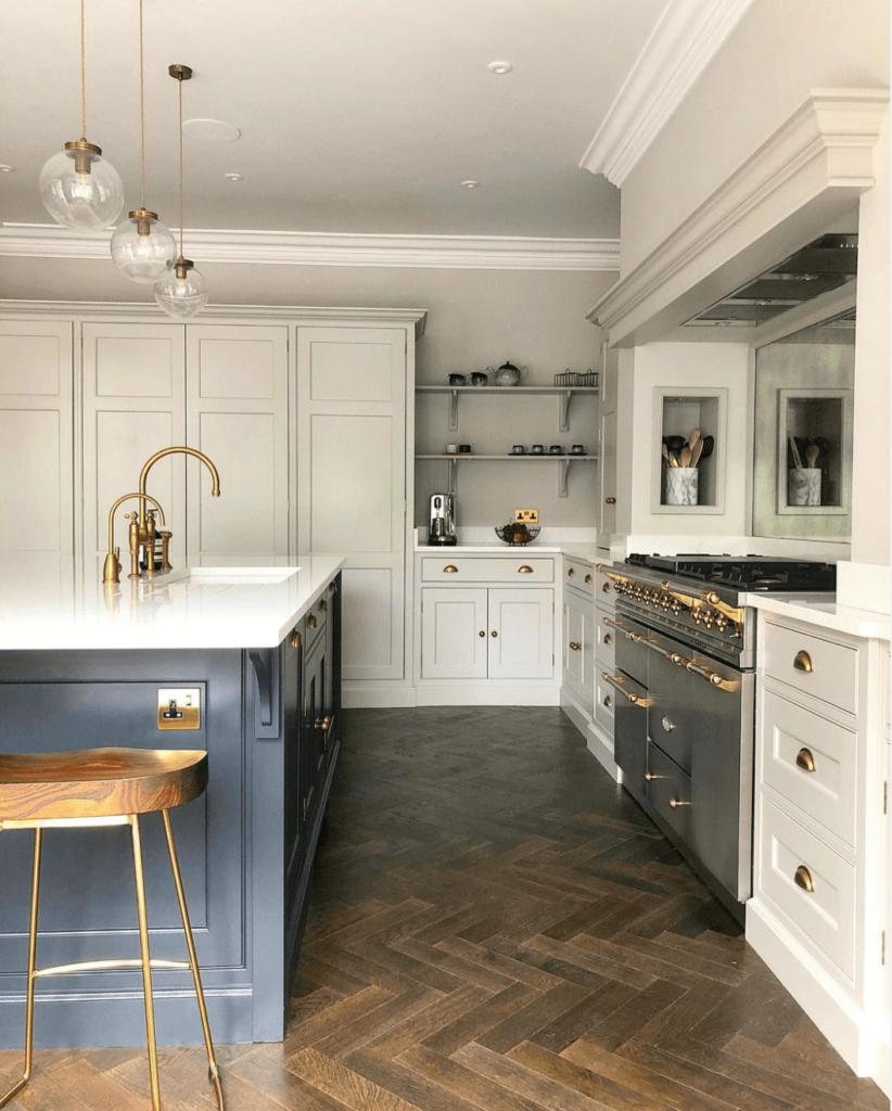 Herringbone Flooring - Kitchen (1)
