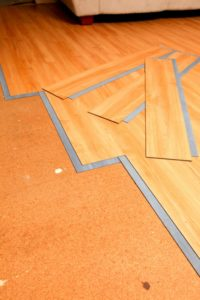 An image of vinyl flooring strips