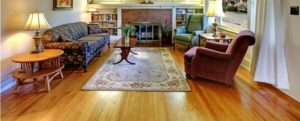 living room with solid wood floor
