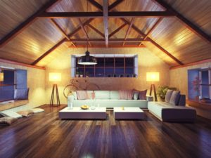 An image of a room with a solid wood floor